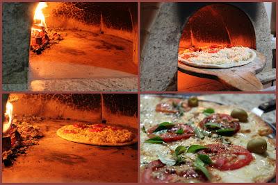 Pizzas forno a lenha