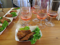 Harvest Barn Teriyaki Sauce Chicken Wings with Rancourt Merlot Rosé
