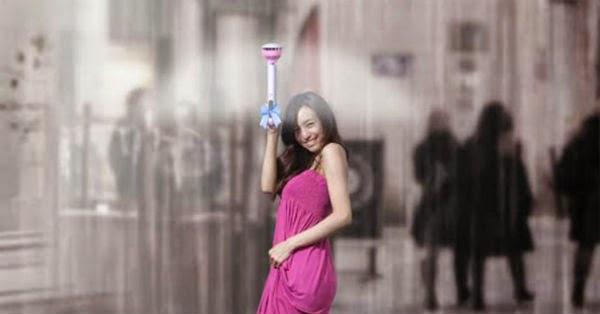 Société chinoise de concevoir un parapluie électronique étrange