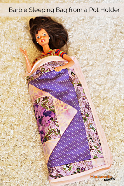 Barbie Sleeping Bag From a Hot Pad