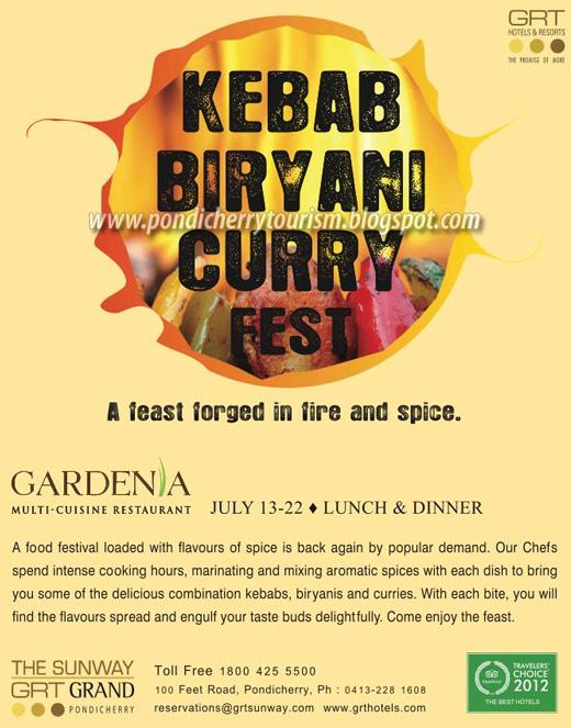 GRT Kebab Biryani Curry Festival poster