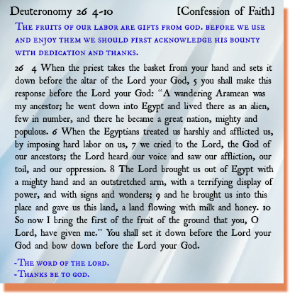 deuteronomy chapter 26 vs 4-10