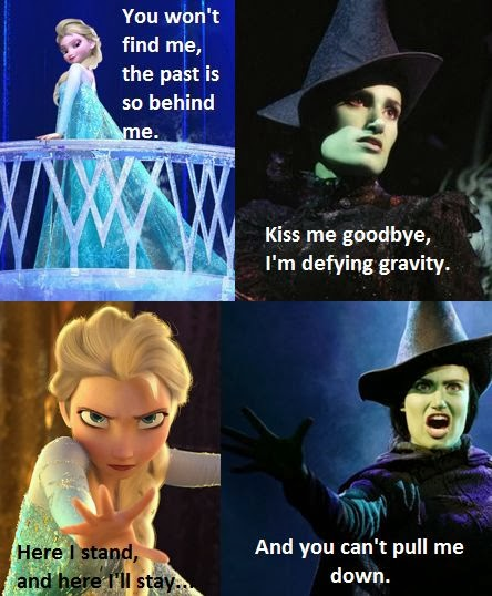 Parallels between Frozen s  quot Let It Go quot  and Wicked s  quot Defying Gravity quot  Idina Menzel Wicked And Frozen