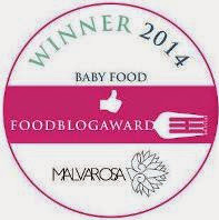 VINCITORE DEL FOOD BLOG AWARDS 2014 - CATEGORIA BABY FOOD - BLOG PIU' VOTATO DALLA RETE