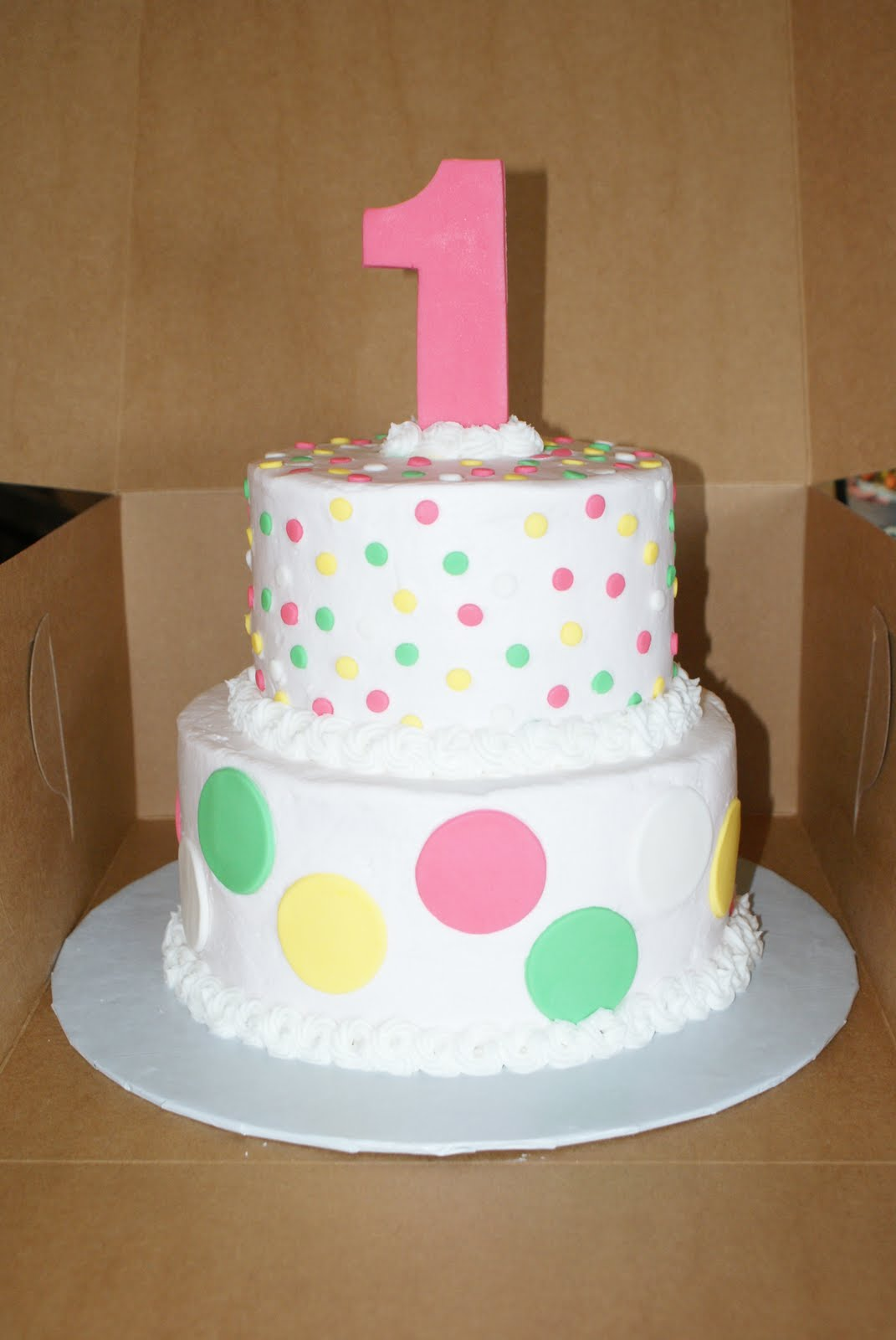 Sweet Creations by Shannon: First Birthday cake