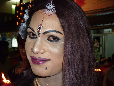 Indian Crossdressers - Men in Drag: Chamayavilakku : Indian