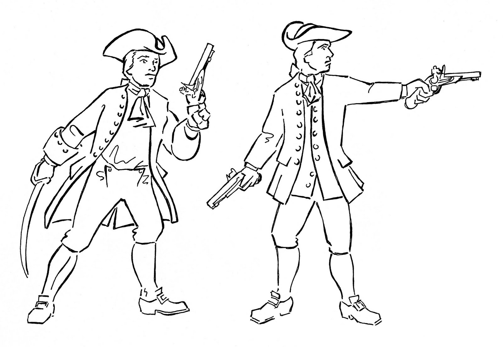 British Red Coats Coloring Coloring Pages