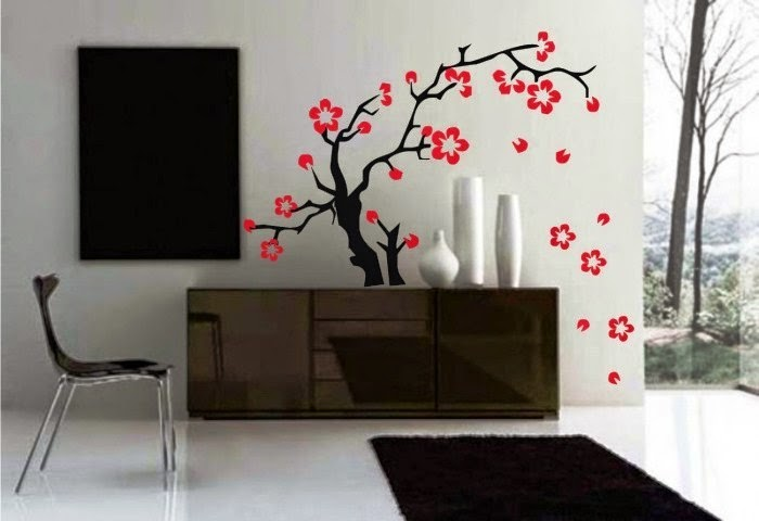 Japanese interior wall painting ideas for Interior wall painting designs