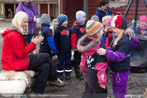 Crown Princess Mette Marit of Norway attends Kindergarten Day