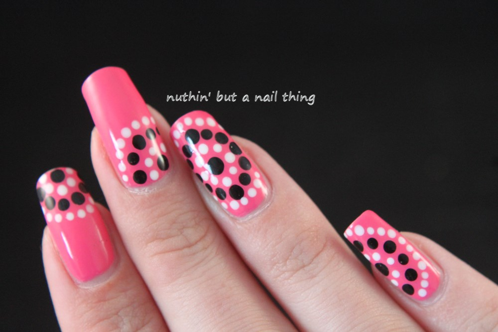 Models Own Gumballs- Polka dot nail art