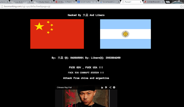 Bookmarking.com Hacked by China and Argentina