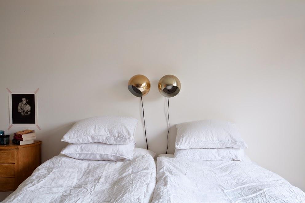 Apliques retro vintage en el dormitorio