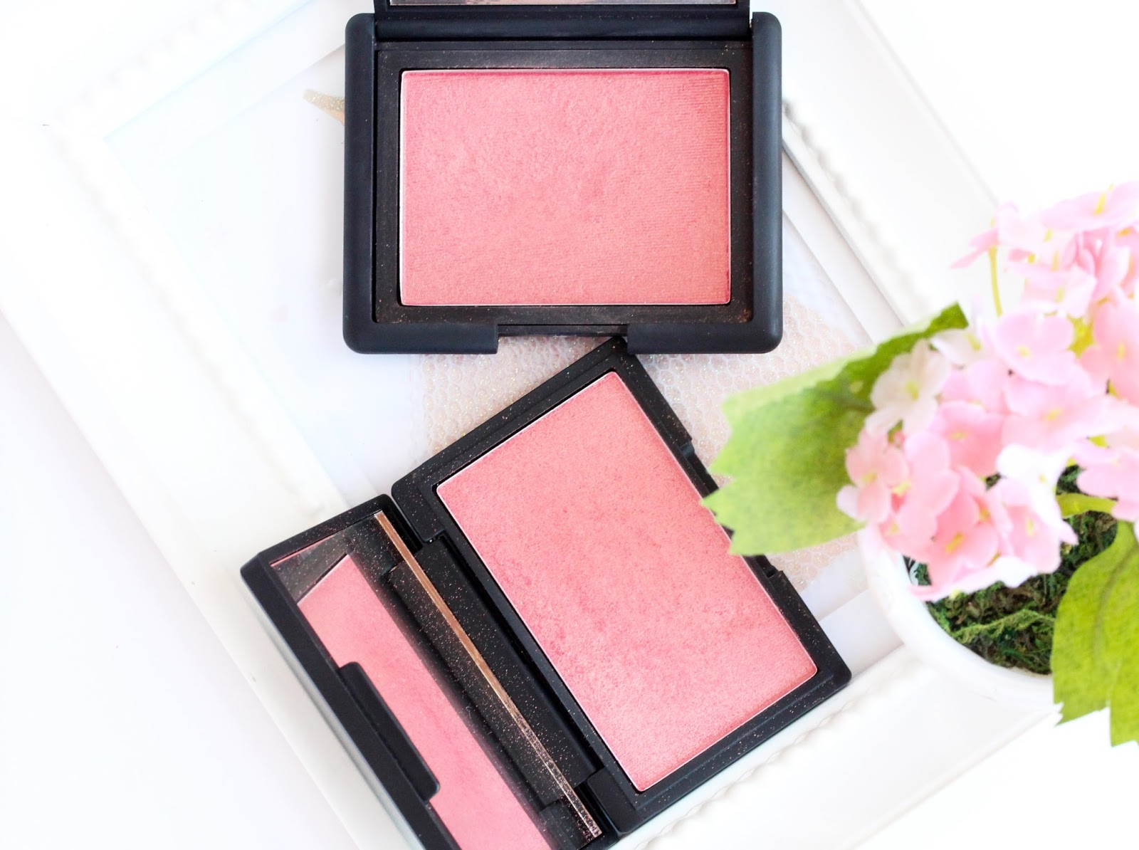 NARS Orgasm blush dupe Sleek Rose Gold
