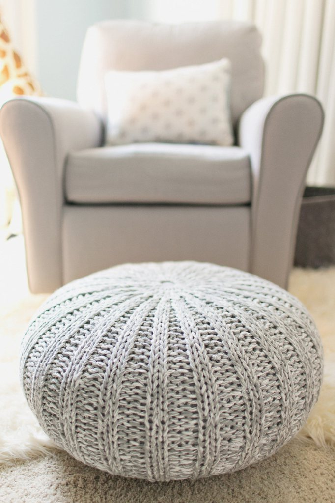 Diy knitted poufs do it yourself ideas and projects there is no other better place to rest your legs rather than a knitted pouf ottoman make yourself a tea turn on the tv and you are all set solutioingenieria Images