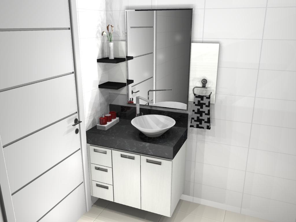 Este é mais simples mas gostei das prateleiras pretas. #613836 1024x768 Banheiro Armario Planejado