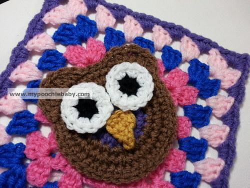 Raising Mimi @PoochieBaby: Owl Granny Square Crochet Pattern