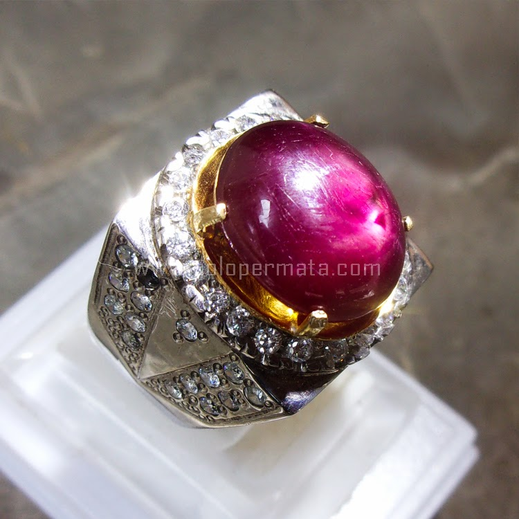 Cincin Batu Permata Ruby Star - SP579