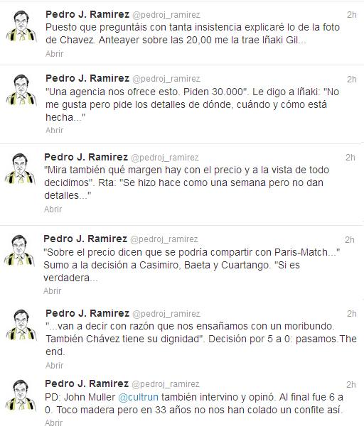 Pedro J. Ramírez habla sobre la foto de Chavez en El País