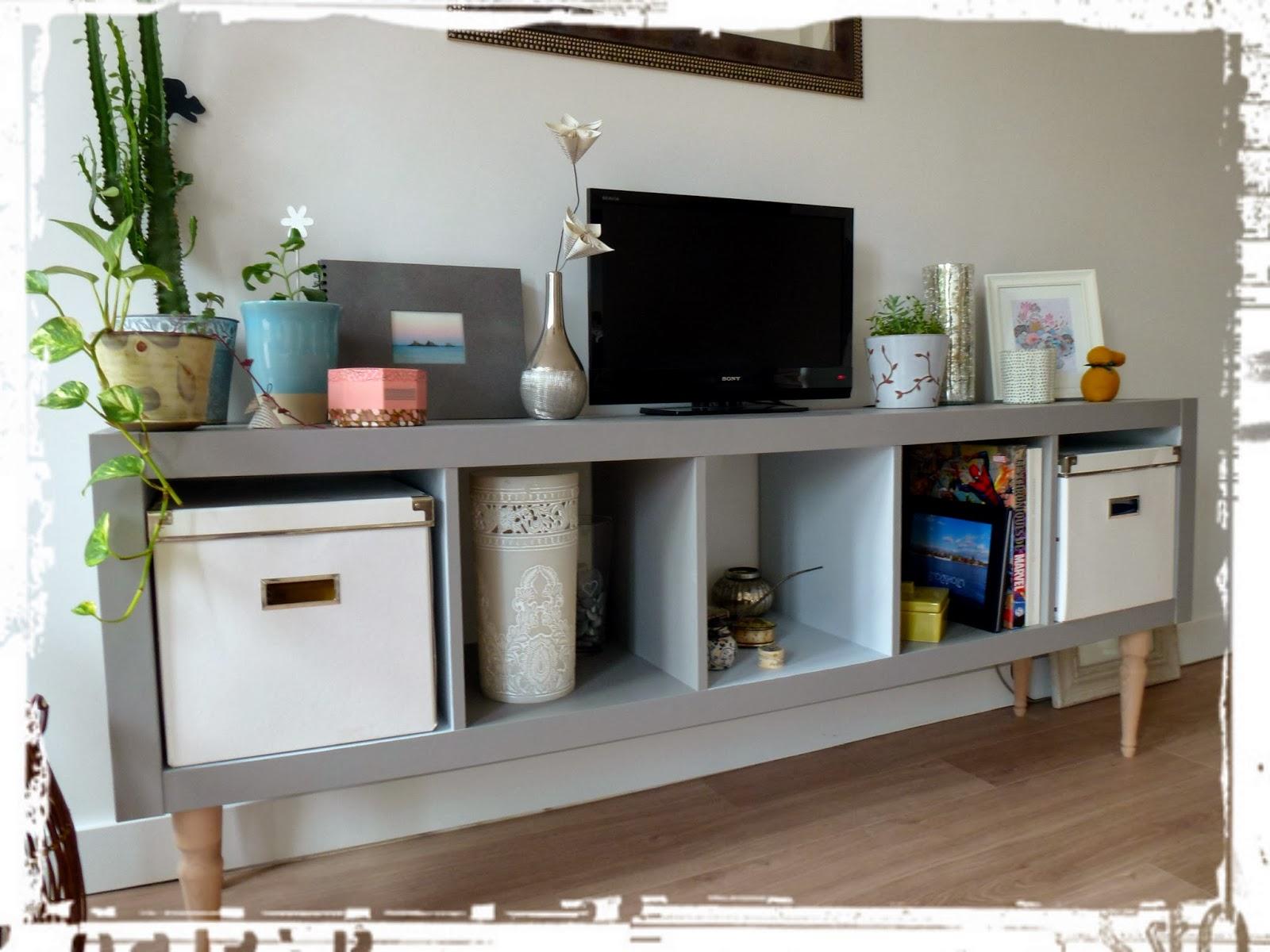 Une nouvelle vie pour un meuble ikea une fille du temps - Peinture pour meuble ikea ...