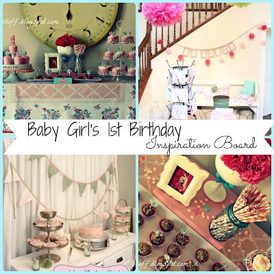 Blue & Pink Baby Girl Birthday Board