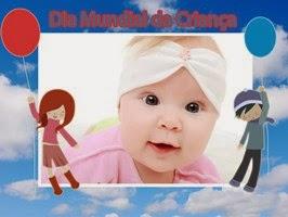 Montagem de fotos com frase Feliz dia das crianças