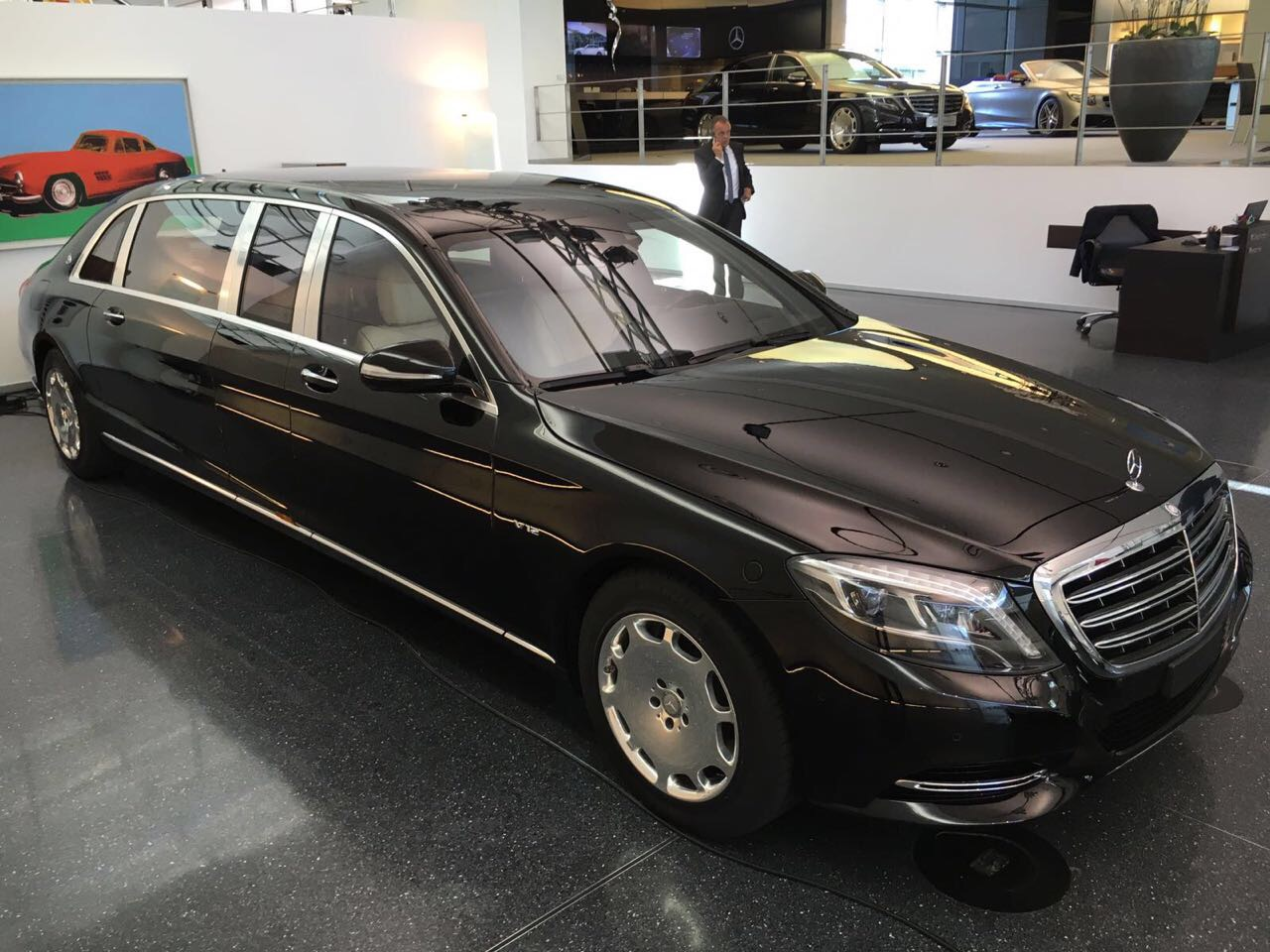 brand new factory armored mercedes maybach s600 vv222. Black Bedroom Furniture Sets. Home Design Ideas