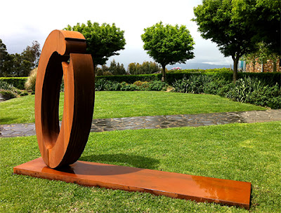 Lump Corten Steel Sculpture
