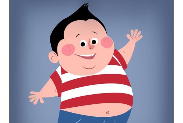 El adolescente gordito gordo se pone