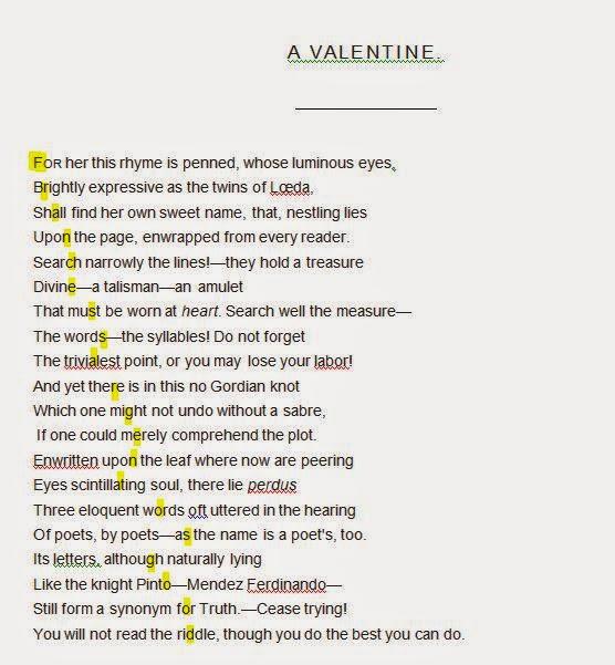 Valentine cryptography example