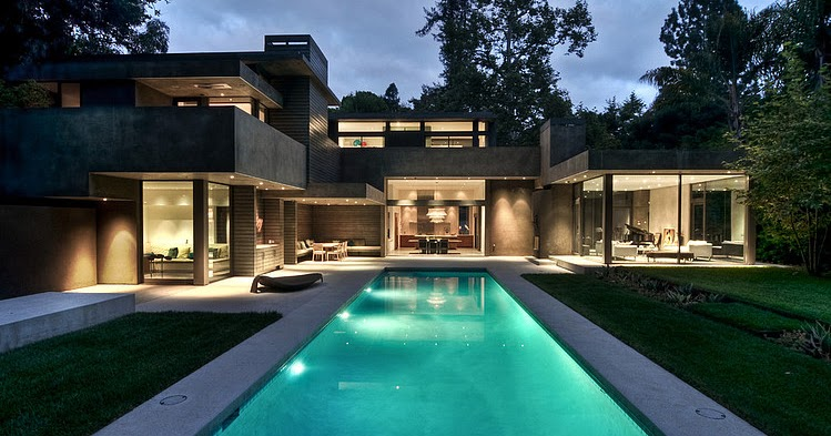 Modern dream home in the forest by chu gooding architects for Dream homes in michigan