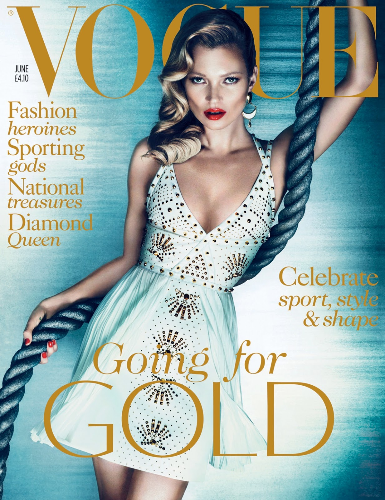 UK Vogue June 2012 : Kate Moss by Mert Alas & Marcus Piggott