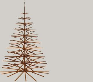 Árvores de Natal diferentes e criativas com materiais reaproveitados.