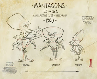 Curio and Co. Curio & Co. www.curioandco.com -  Spaceman Jax - Mantagons Model Sheet - Design by Cesare Asaro & Luca Fattore