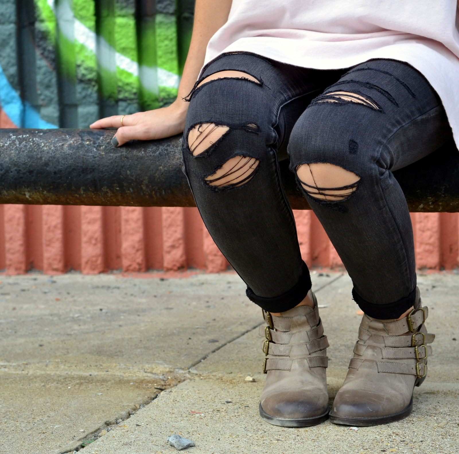 Buckle Ankle Boots, Fall Boots, Ripped Denim