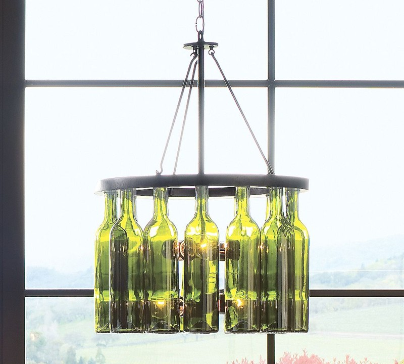 A yellow bicycle more wine bottle diy project ideas for Lamps made out of wine bottles