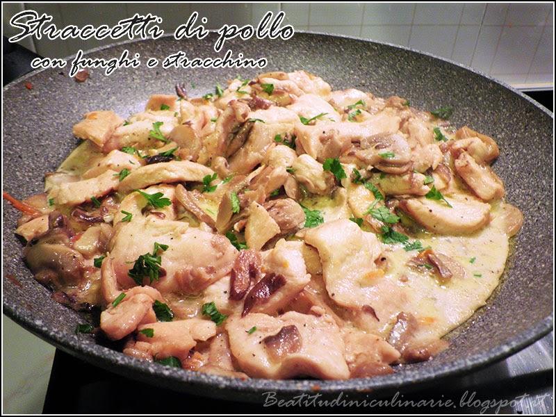 straccetti di pollo con funghi e stracchino