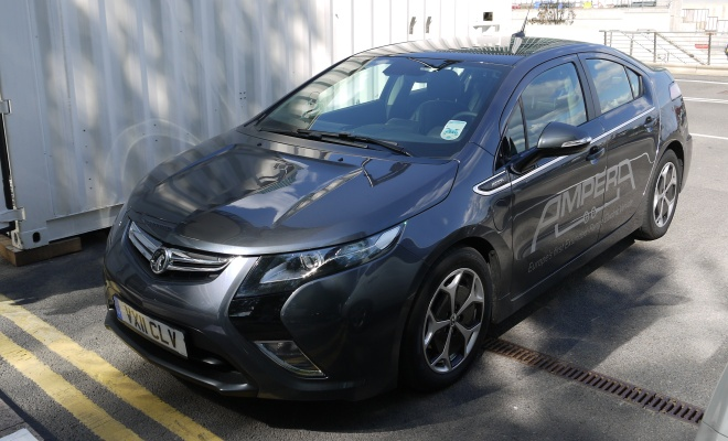 Vauxhall Ampera from above