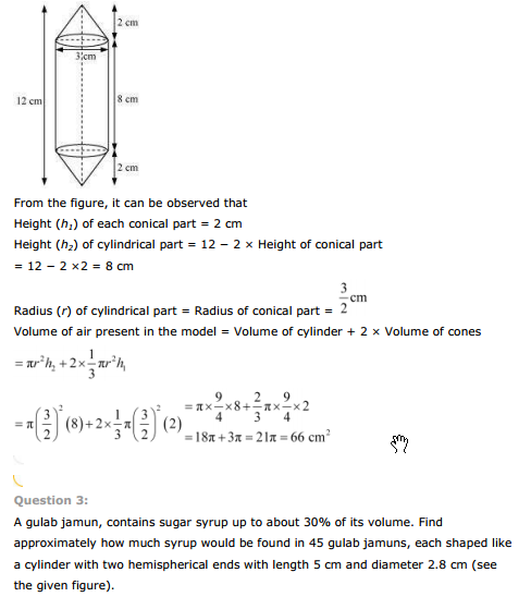 ncert text book solutions ncert solutions for class 10th maths chapter 13 surface areas and