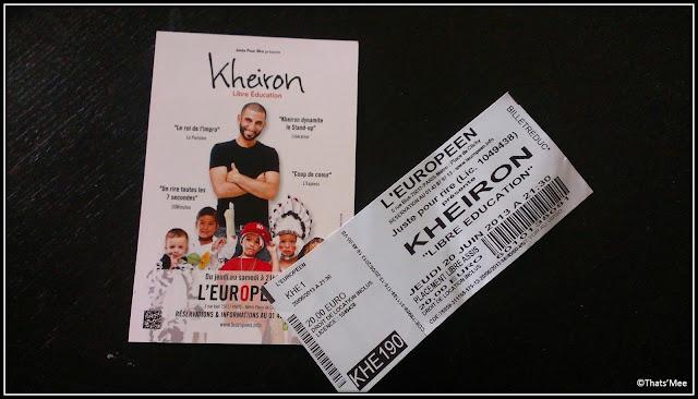 billets tickets théatre Kheiron Libre Education théatre L'Européen Paris stand-up humour seccond degré Billetreduc