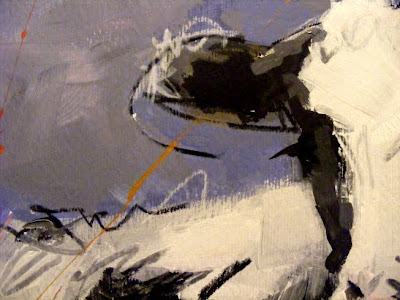 Cow art painting 'Friese Holsteiner' detail 002