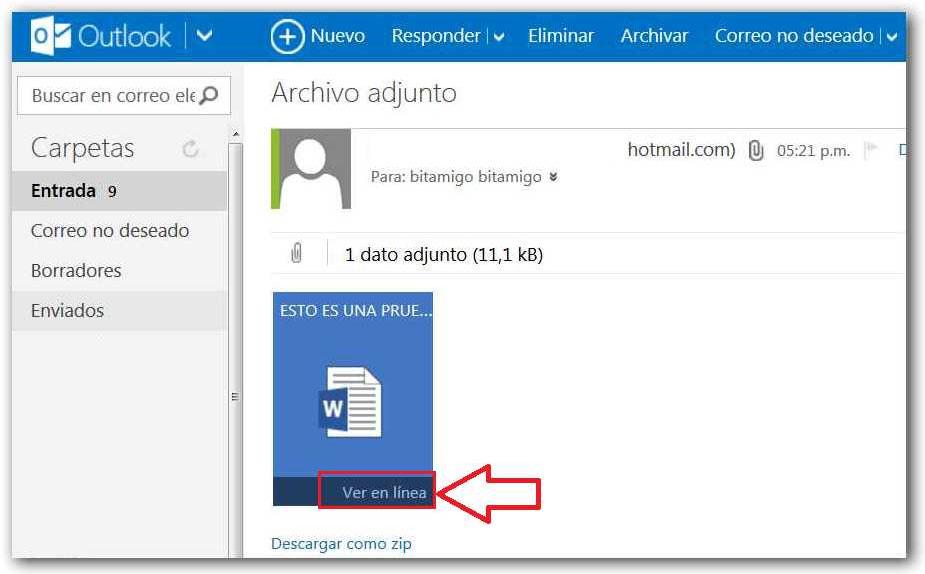 Outlook: Como adjuntar archivos - Correo Hotmail