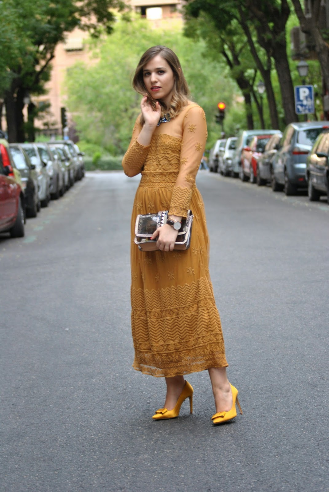 Moustard Long Dress