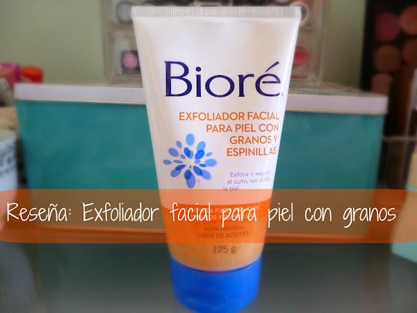 Reseña: Exfoliador Facial para piel con granos y espinillas de Bioré