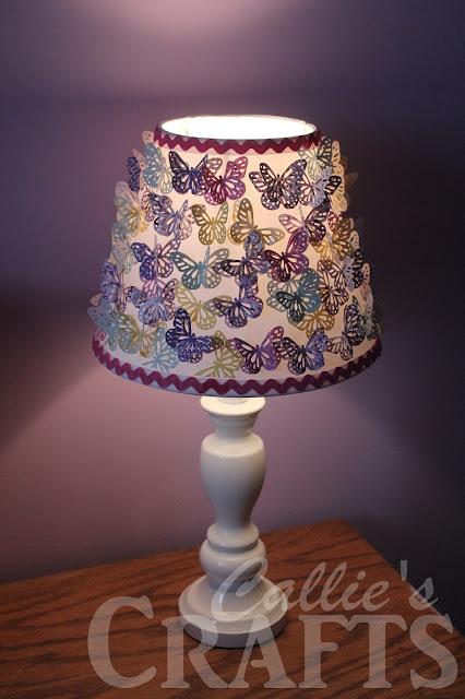 Callie S Crafts Mod Podge Amp Paper Butterflies Lamp Shade