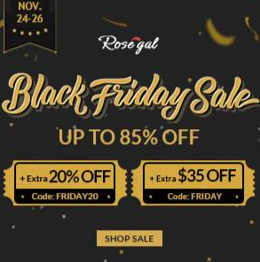 Rosegal Black Friday