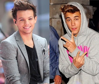 One Direction star Louis Tomlinson and Justin Bieber