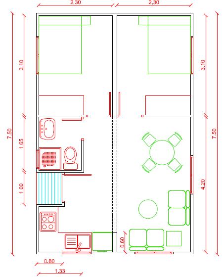 Plano de casa de madera 35 m2 planos de casas gratis - Planos de casas de madera gratis ...