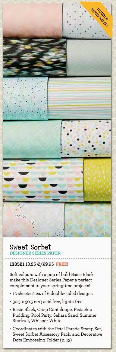 Stampin' Up! Sweet Sorbet DSP SAB Tracy May Card making ideas