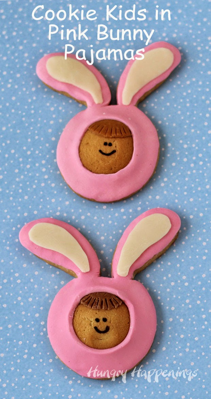 Cookie Kids in Pink Bunny Pajamas   HungryHappenings.com