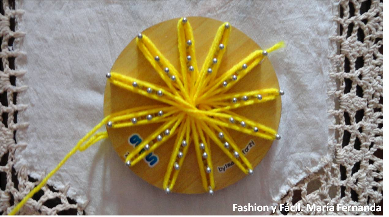 Fashion y Fácil : Girasol con telar redondo tutorial (Sunflower ...